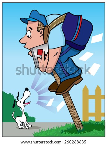 Dog Barking At Black Mailman