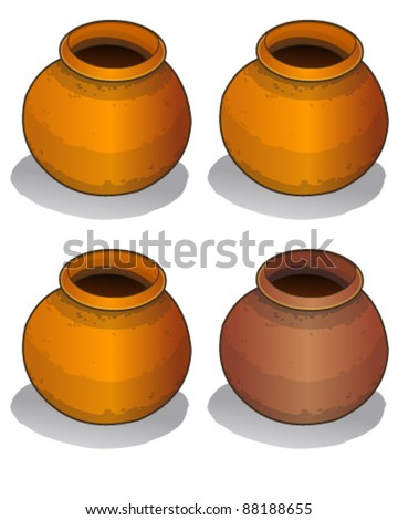 Pot - stock vector