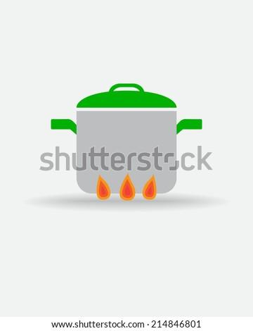 Pot icon - stock vector