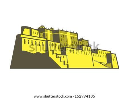 Potala Palace - stock vector