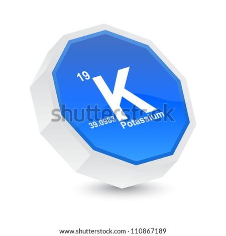 potassium button - stock vector
