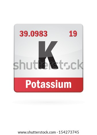 Potassium Symbol Illustration Icon On White Background - stock vector