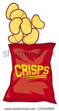 potato chips bag crisps stock vector 151664864 shutterstock rh shutterstock com  eating potato chips clip art