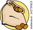 potato sack - stock vector