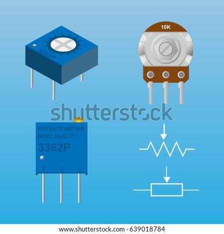 Potentiometer Adjustment Resistor Symbol Stock Vector 639018784 ...
