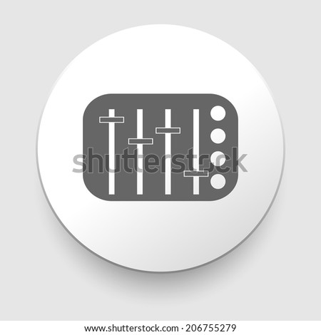 potentiometer, slider, knob, equalizer vector icon on white background - stock vector