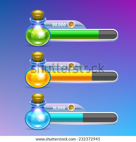 Potion icon with progress bar. Vector eps 10 - stock vector