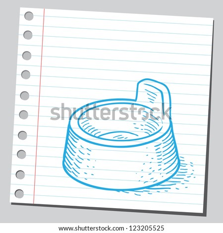 Potty for baby - stock vector