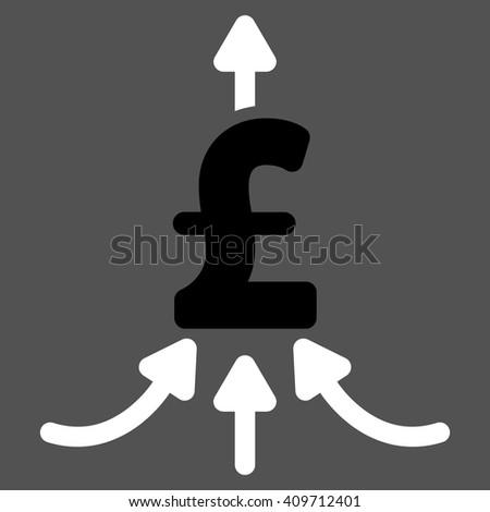 Pound Financial Aggregator vector icon. - stock vector