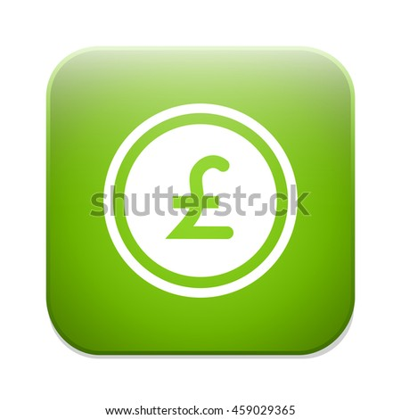 Pound sign icon. GBP currency symbol. Money label