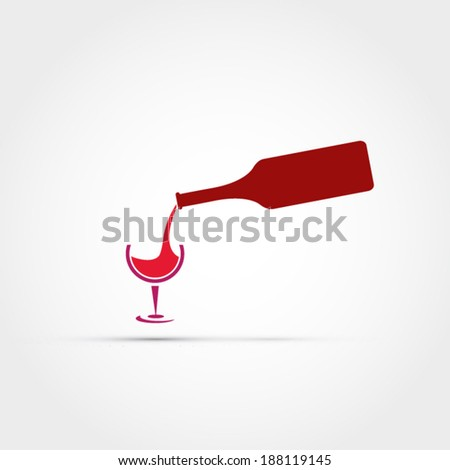 Pouring wine  - stock vector