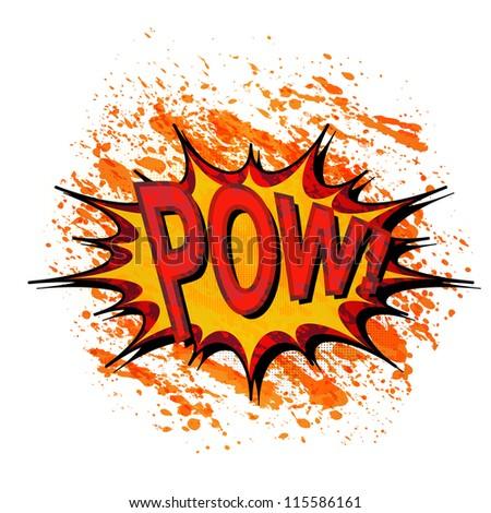 Pow. Comic book explosion. - stock vector