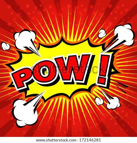 Pow! - Comic Speech Bubble, Cartoon  - stock vector