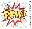 Pow! vector - stock vector