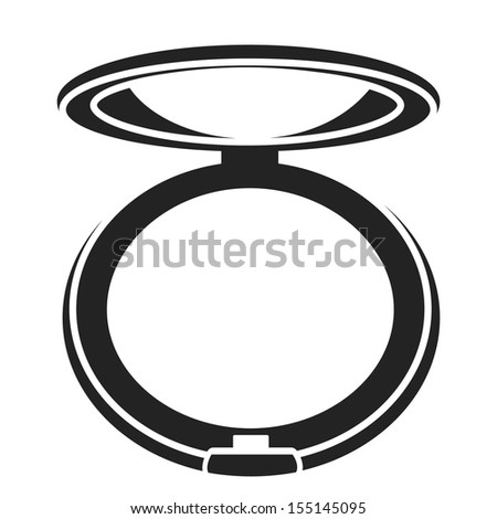 compact mirror vector. powder icon. vector illustration compact mirror w