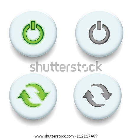 power and sync vector - stock vector