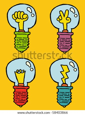 power bulbs - stock vector