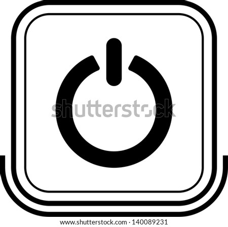 Power button black square