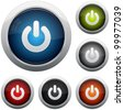 Power button icon set - stock vector