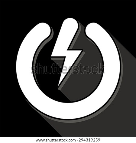 Power button, vector - stock vector