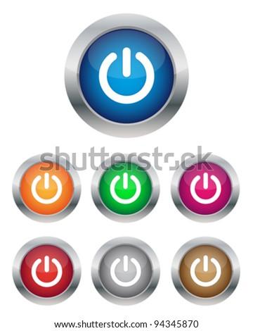 Power buttons - stock vector