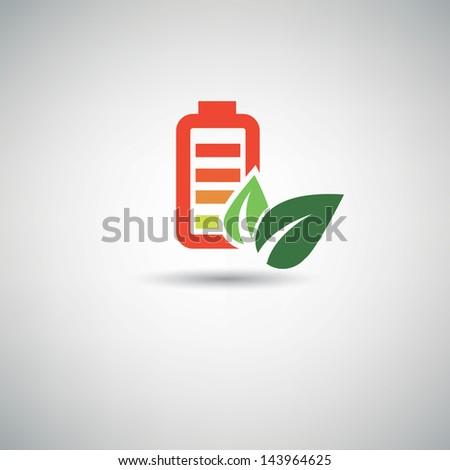 Power ecology symbol,vector - stock vector