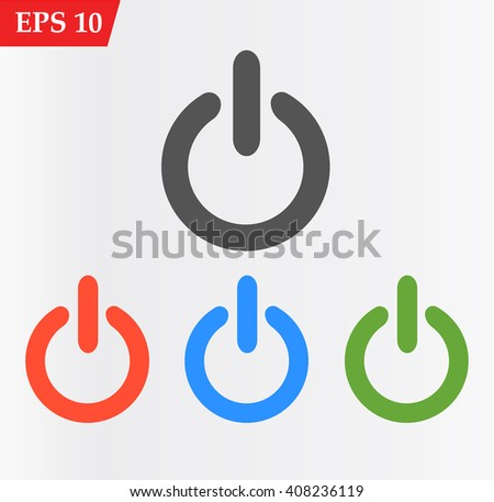 Power icon, Power icon eps, Power icon art, Power icon jpg, Power icon web, Power icon ai, Power icon app, Power icon flat, Power icon logo, Power icon sign, Power icon ui, Power icon vector, Power - stock vector