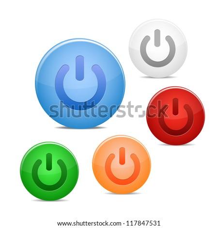 power off icon - stock vector
