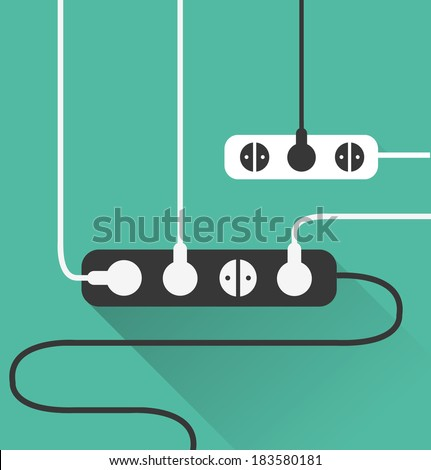 power outlet icon in minimal style 4 - stock vector