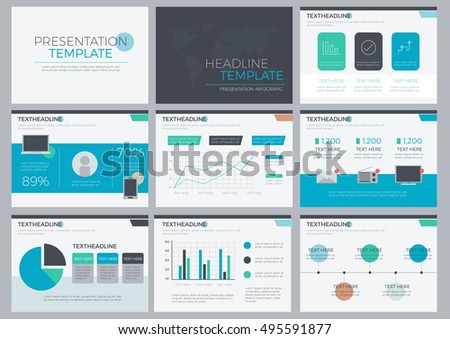 power set presentation template layout design stock vector royalty