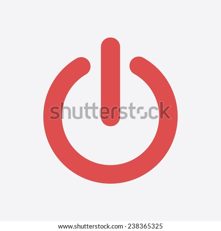 Power sign icon. Flat design style.   - stock vector