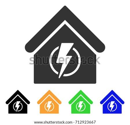 Power Supply Building Icon Vector Illustration Stock Vector ...