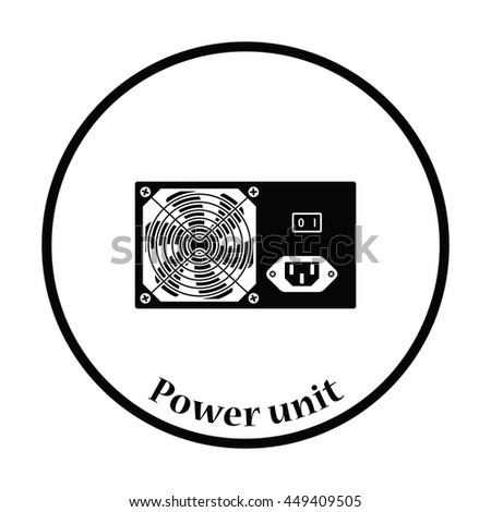 Power Unit Icon Flat Color Design 445416763