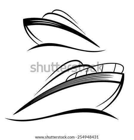 powerboat - stock vector