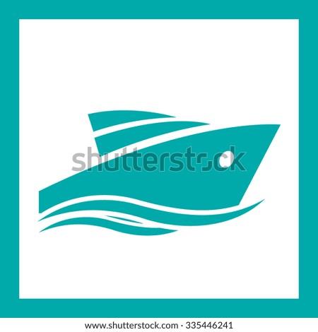 powerboat  - stock vector