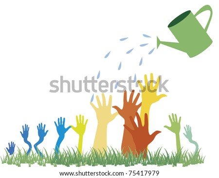 PR, voting, advertisement, promotion concept illustration in cartoon style - stock vector