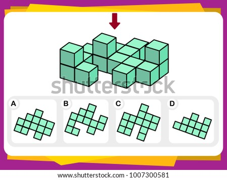 Practice Questions Worksheet Education IQ Test Stock Photo (Photo ...