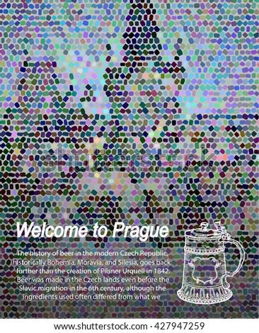 prague.prague. beer beer - stock vector