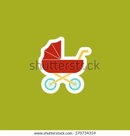 Pram icon. Baby Carrige Logo. Vector Illustration - stock vector