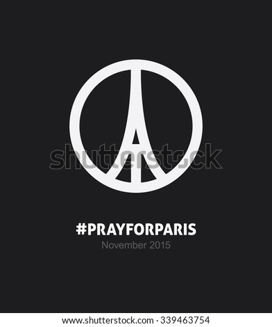 pray paris symbol stock vector 339463754 shutterstock