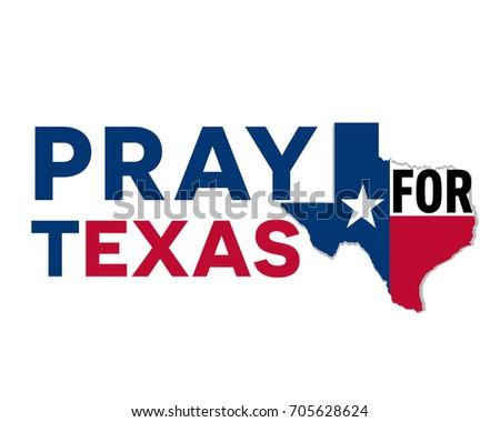 Pray Texas Symbol Humanity Storm Natural Stock Vector 2018