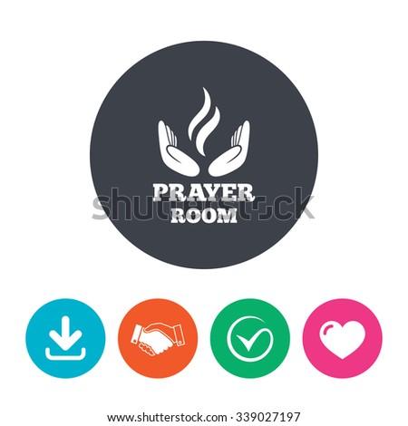 Prayer Room Sign Icon Religion Priest Stock Vector 339027197