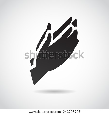 Prayer vector icon.  - stock vector