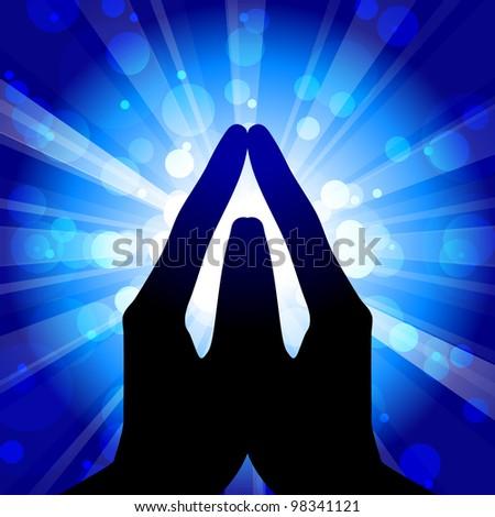 Prayer - vector illustration - stock vector