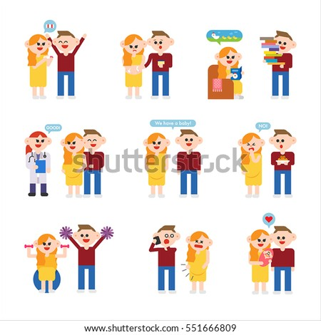 Disabled Person Care Vector Flat Concepts Stock Vector ...