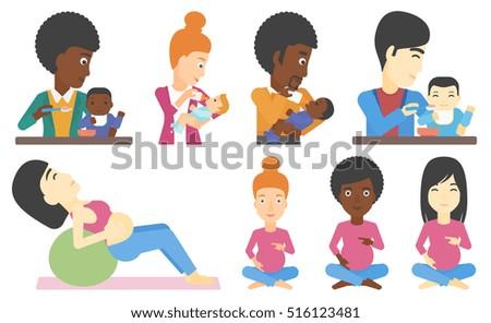 Pregnant Woman Eating Stock Vectors, Images & Vector Art ...