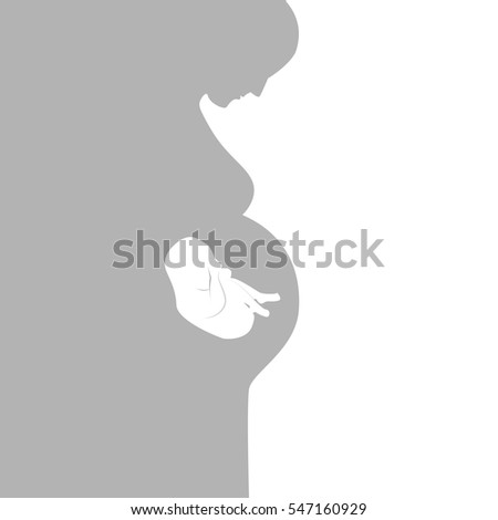 pregnant woman symbol, stylized vector