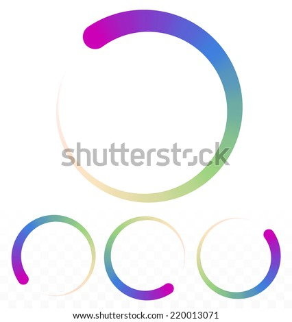 Preloader, circular shape. Segmented circle - stock vector