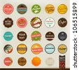 Premium and High Quality retro Labels collection | Vintage design | Big set - stock vector