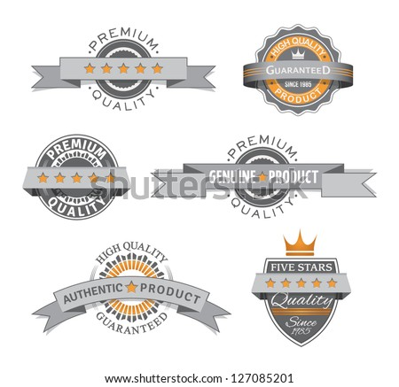 Premium and High Quality retro labels. EPS10. - stock vector